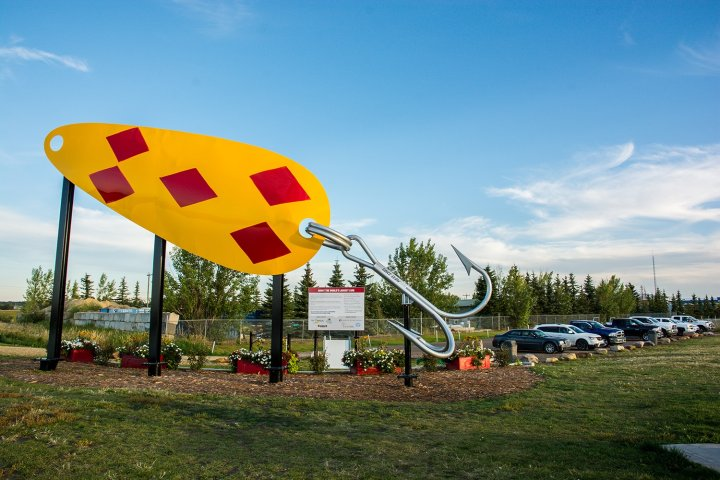 Lacombe's giant fishing lure is officially the world's largest