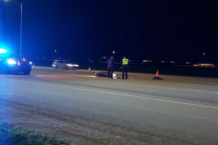 Motorcyclist sent to hospital after south Edmonton collision