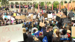 Thousands attend George Floyd vigil in Calgary on Saturday