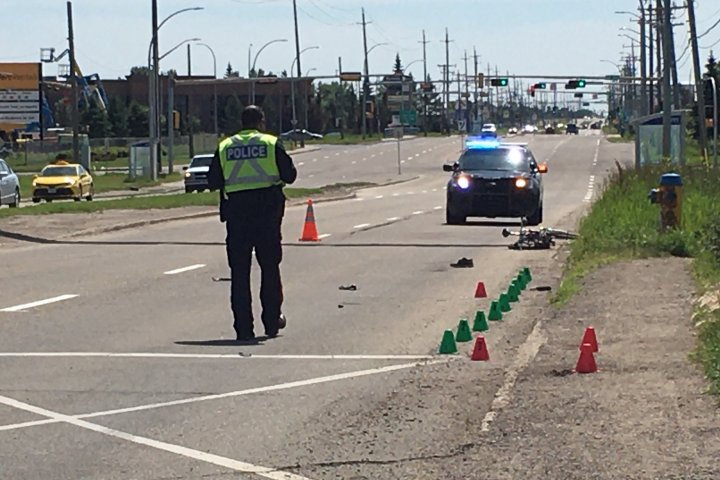 Cyclist taken to hospital after collision with vehicle in east Edmonton