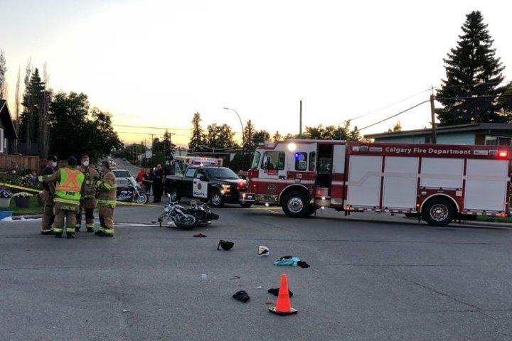 Dad, daughter injured in Calgary motorcycle crash