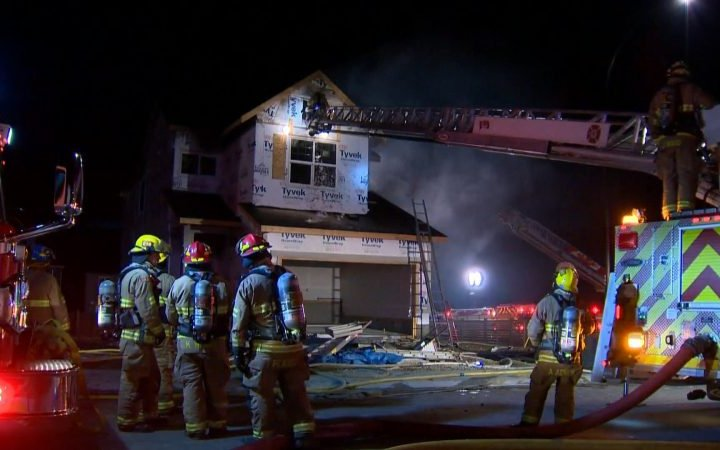 Fire breaks out at home under construction in north Calgary