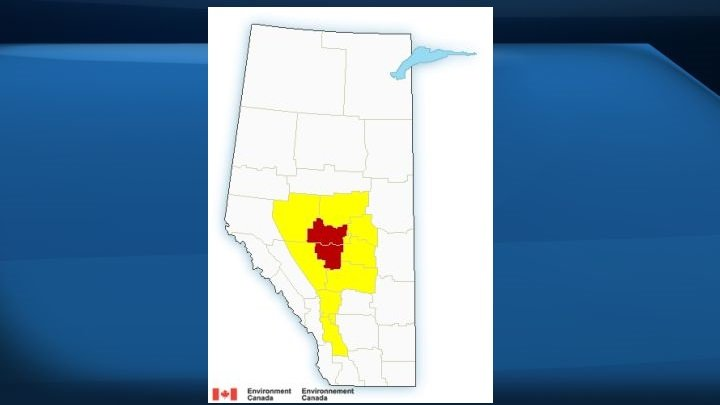 Severe thunderstorm warnings in effect for parts of central Alberta, Edmonton under watch