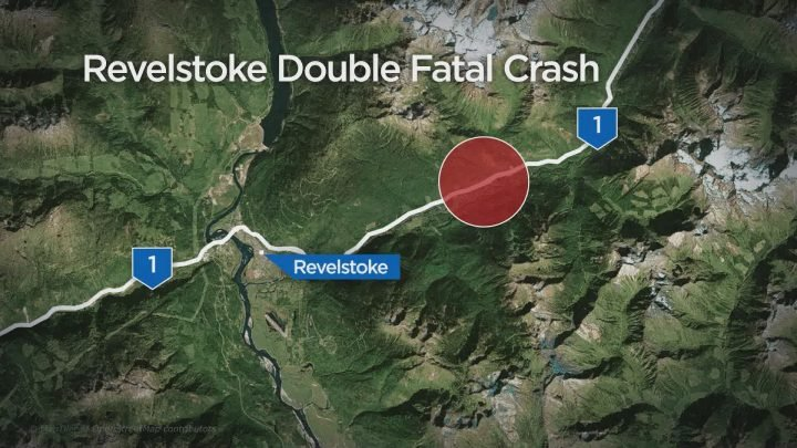 Two killed in collision between car and semi on Highway 1 near Revelstoke