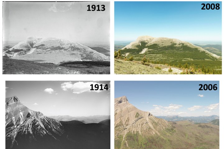 Waterloo study uses historic photos to examine ecosystem change in Canadian Rockies