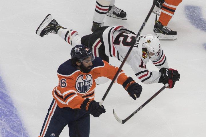 Blackhawks soar past Edmonton Oilers in game one