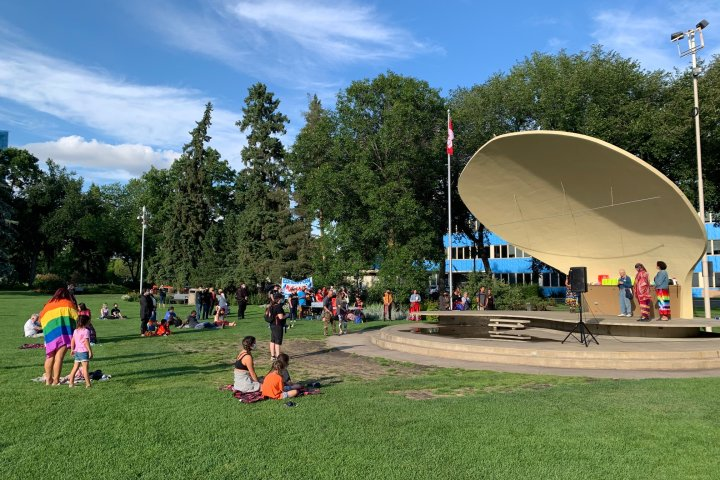 Edmonton Hate to Hope rally focuses on Indigenous rights