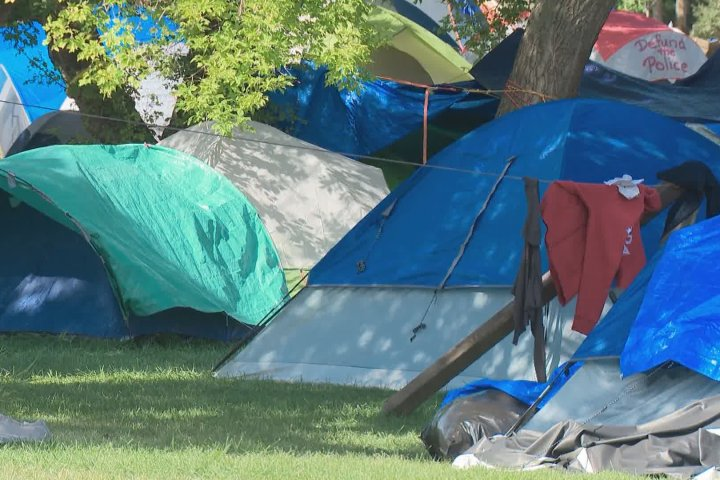 Nearby residents concerned about crime as Edmonton encampment reaches capacity