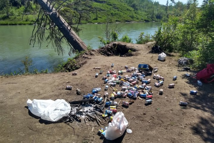 'We found feces fairly close to the river': Calgary cleanup crews find gross amounts of garbage in public parks, other green spaces