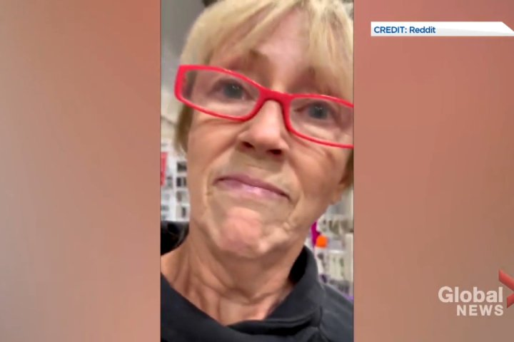 COVID-19: Anti-mask rant from woman at Calgary Fabricland captured on video