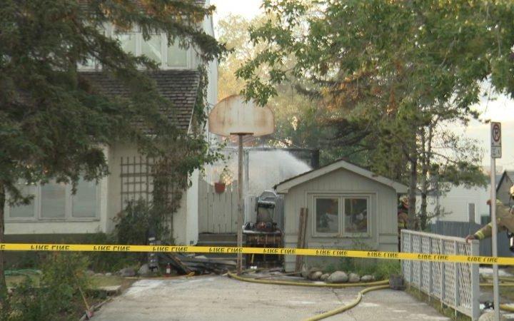 Calgary firefighters douse St. Andrews Heights house fire Thursday evening