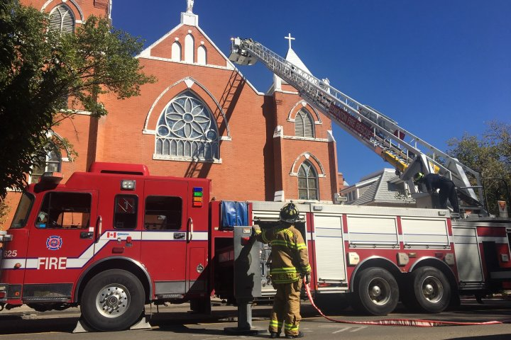 Central Edmonton church fire damages pegged at $350,000