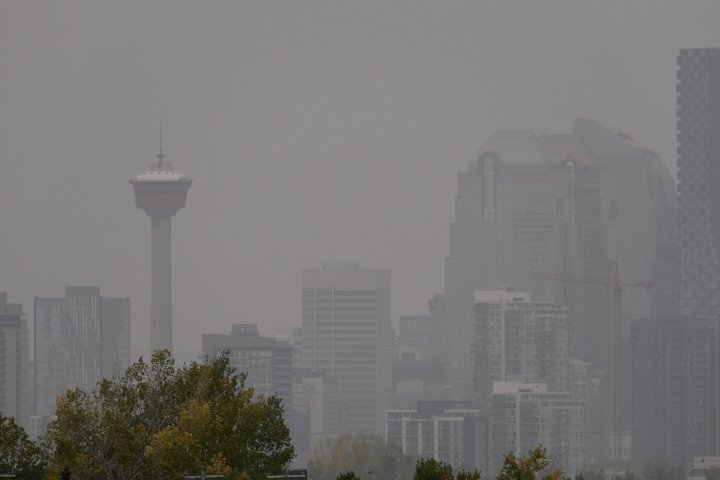 City of Calgary, all of southern Alberta under air quality statement due to wildfire smoke