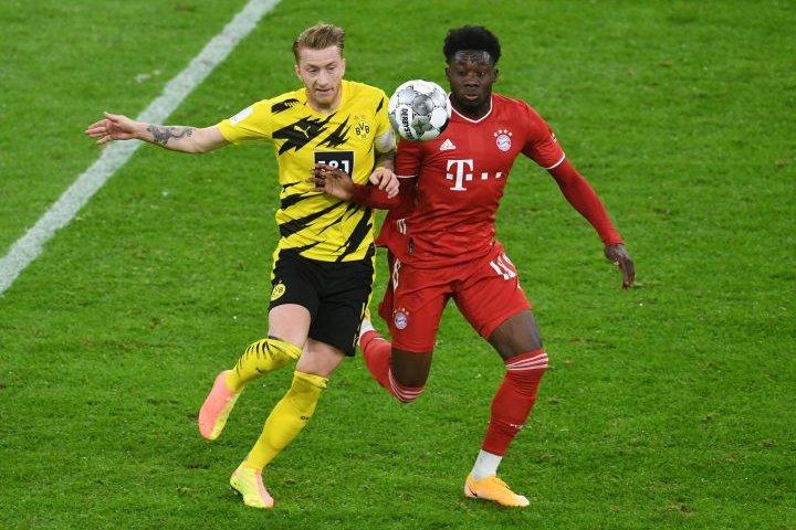 Edmonton's Alphonso Davies helps Bayern beat Dortmund 3-2 to lift German Super Cup