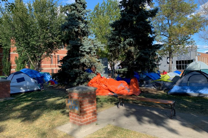 Old Strathcona encampment moves, organizers say it will be set up at new, undisclosed Edmonton location