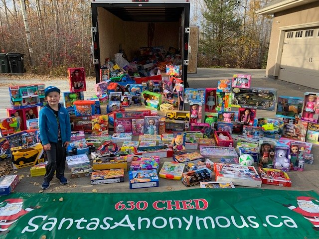 $20K in toys donated to 630 CHED Santas Anonymous in memory of Edmonton woman