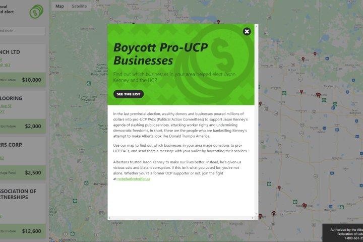 Alberta Premier Jason Kenney calls AFL's boycott website 'disturbing' and 'un-Albertan'