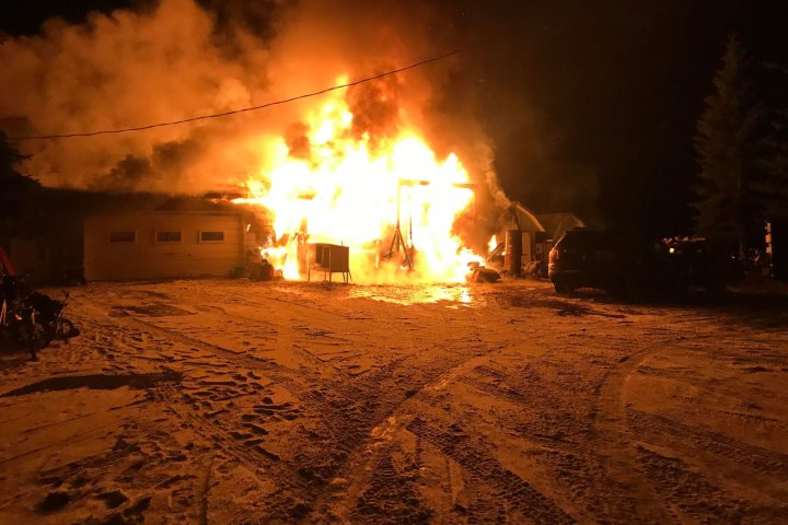 Calgary-area mother homeless after rural rental home destroyed by fire
