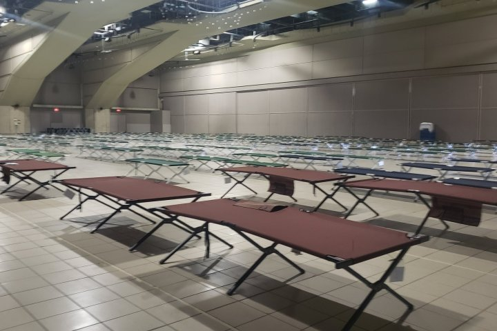 Edmonton Convention Centre to open as temporary homeless shelter Friday