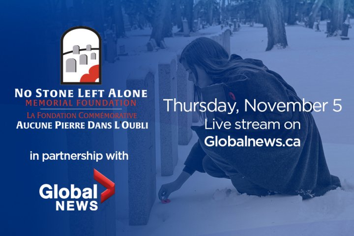 Global Edmonton and 630 CHED support: No Stone Left Alone Remembrance Ceremonies