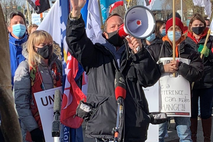 Labour board calls Alberta hospital staff walkout illegal, orders picketers back to work