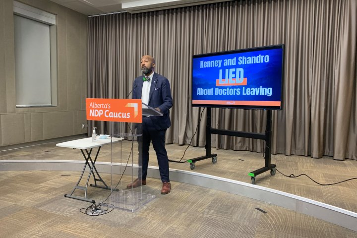 NDP accuse Health Minister Tyler Shandro of lying about how many physicians planned to leave Alberta