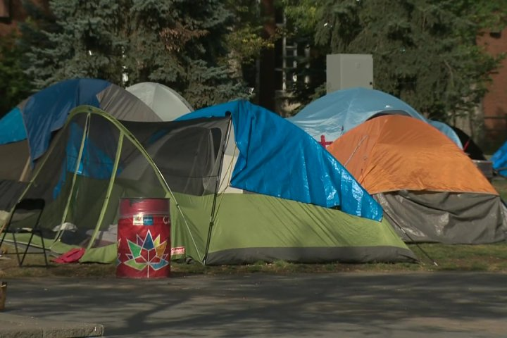 Old Strathcona encampment to close over the next week: organizers