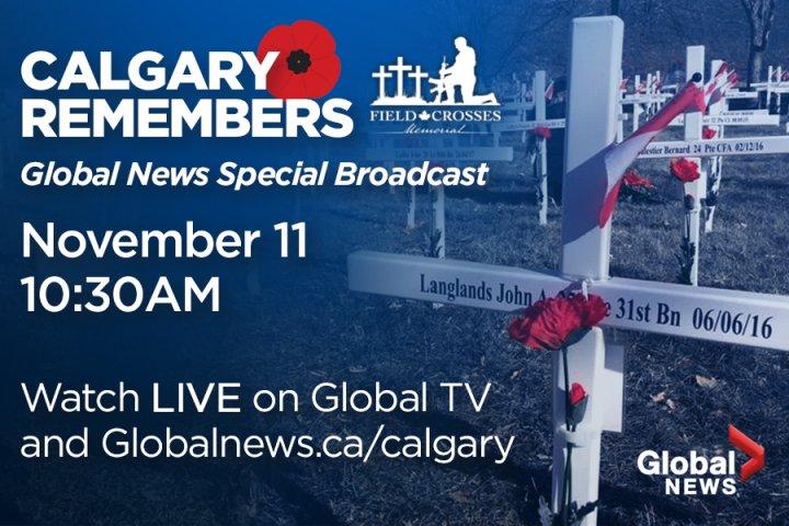 CALGARY REMEMBERS- Field of Crosses Live Broadcast on Global Calgary