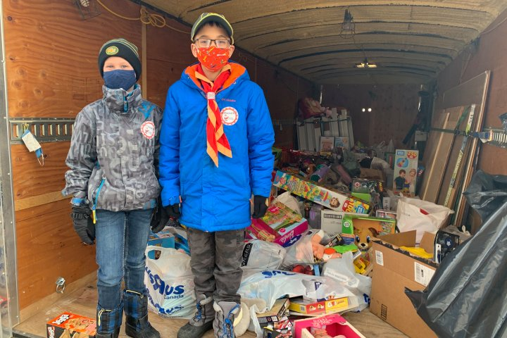 Sherwood Park Cub Scout collects more than $15K worth of toys for 630 CHED Santas Anonymous