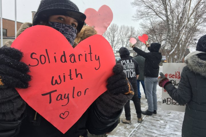 Tensions flare outside Red Deer court after anti-racism advocate's appearance