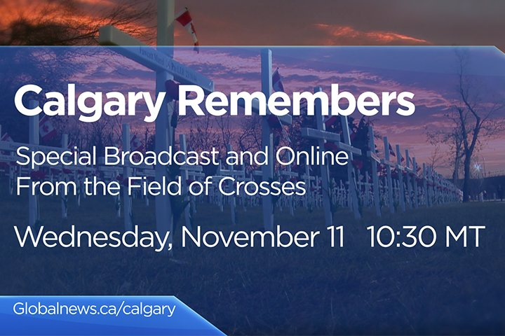 Watch live: Calgary's 2020 Remembrance Day ceremony at the Field of Crosses