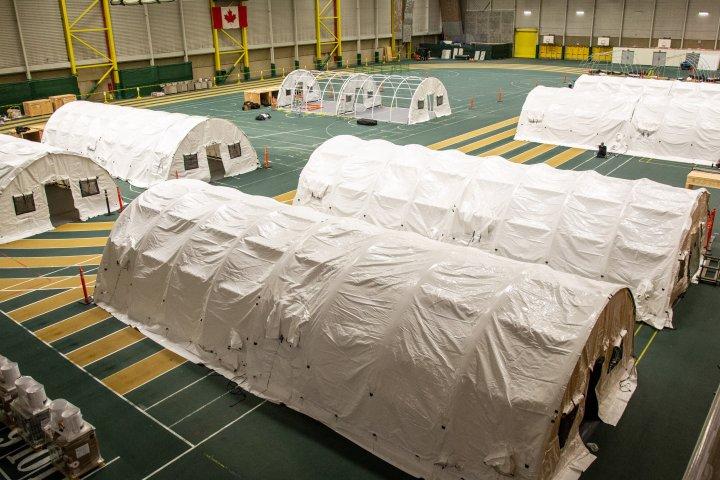 Butterdome field hospital almost ready as Alberta COVID-19 hospitalizations reach 921