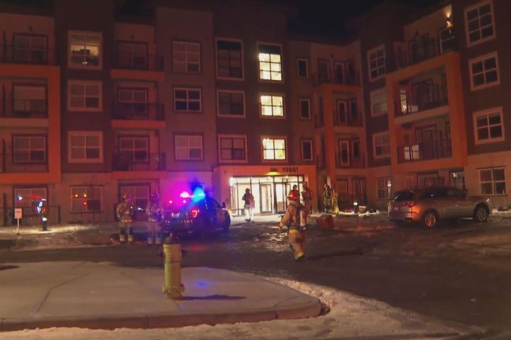 Condo complex evacuated after fire in southeast Calgary