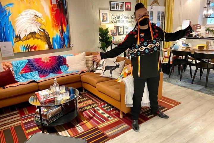 Edmonton artist designs first-ever Indigenous showroom for IKEA