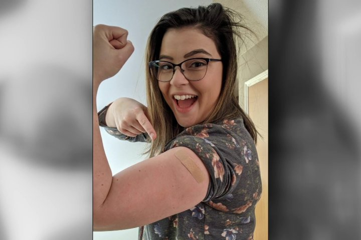 'I couldn't stop smiling': Edmonton nurse shares COVID-19 vaccine experience