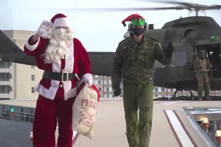 Santa stops by Stollery Children's Hospital to drop off presents for patients