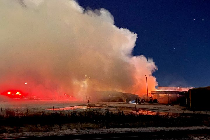 Building gutted by fire in Edmonton's southeast Monday