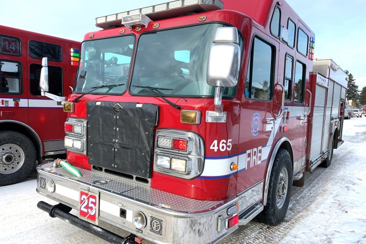 Fire crews douse blaze at north Edmonton rugby club