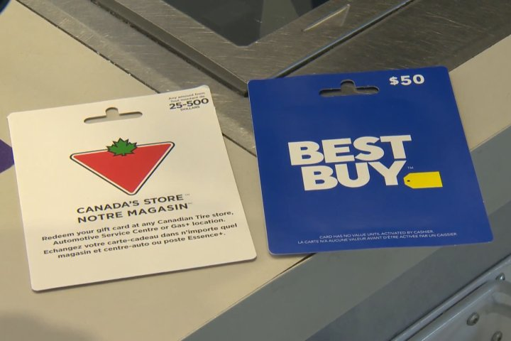 Shoppers warned to be vigilant after gift card fraud is foiled at Calgary retailer