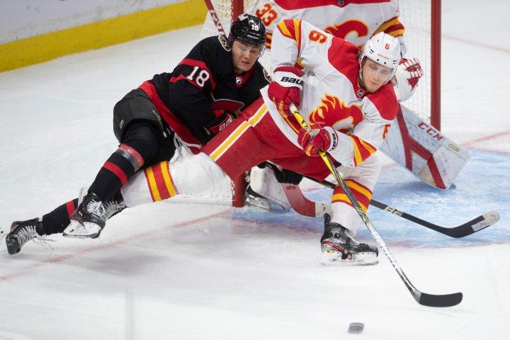 Colin White scores 2 goals to lead Ottawa Senators to a 6-1 win over Calgary Flames