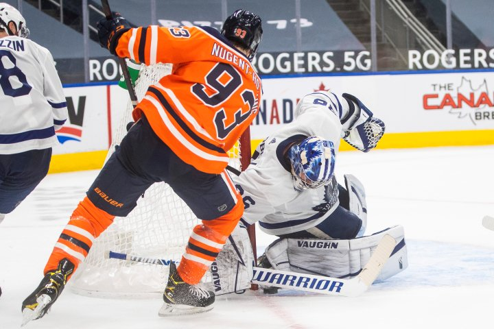 Edmonton Oilers stymied by Toronto's Jack Campbell