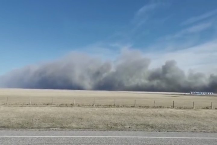 15,000 acres burned in Blood Tribe wildfire Sunday, caused by sweat lodge session
