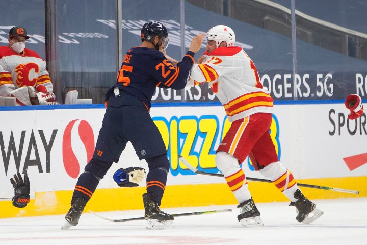 Edmonton Oilers score late to win latest Battle of Alberta