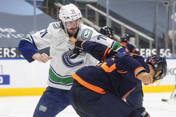 Canucks forward Zack MacEwen suspended 1 game for kneeing Oilers' Darnell Nurse