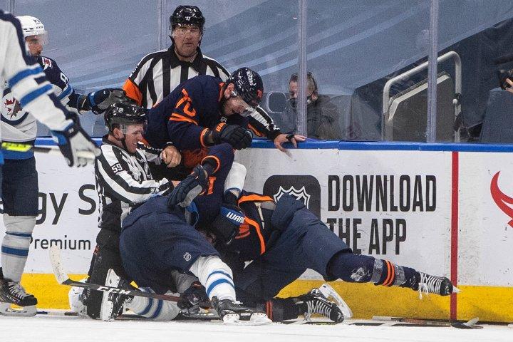 Edmonton Oilers shake things up for game three against Winnipeg Jets