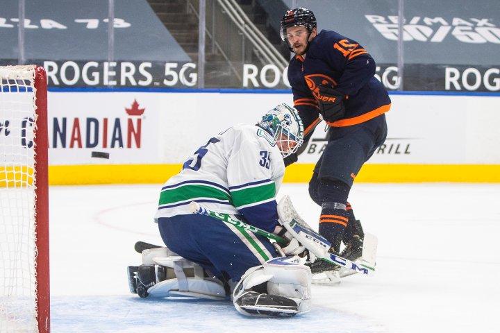 Edmonton Oilers shut down by Thatcher Demko in regular season finale