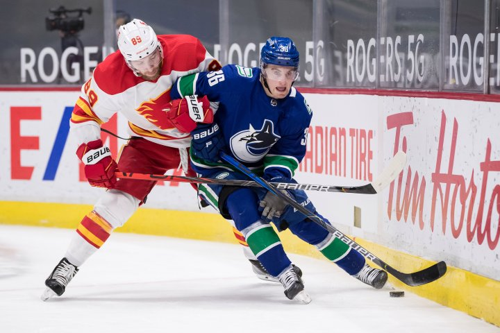 Vancouver Canucks weather late barrage, beat Calgary Flames 4-2