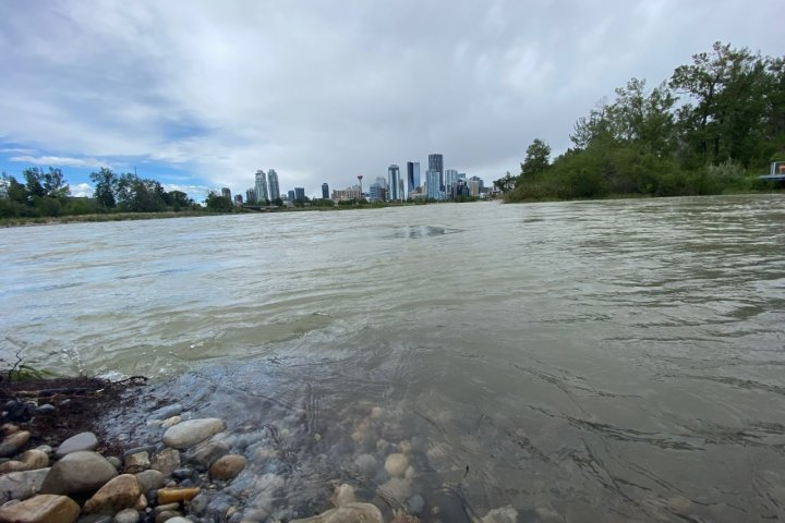 Calgary river levels receding as snow falls in mountain parks