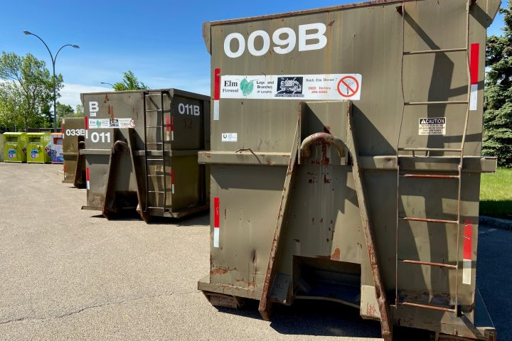 Edmontonians lined up by the hundreds for big bin waste event
