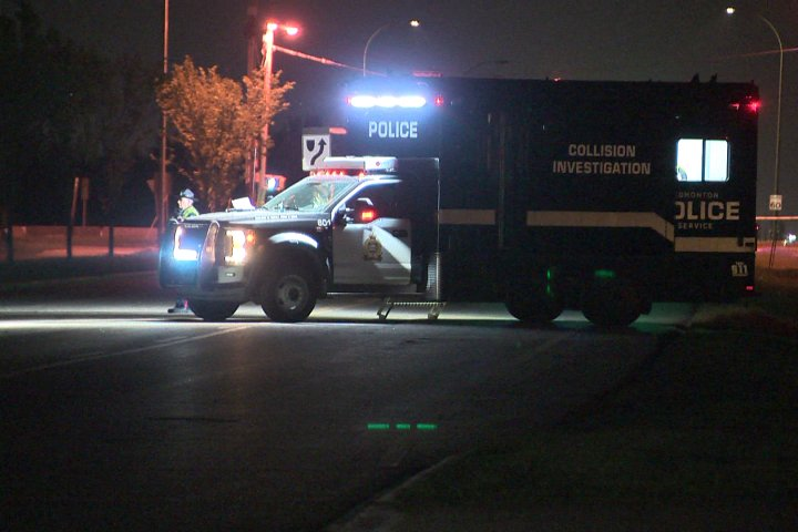 Woman dead after being struck by car on sidewalk in northwest Edmonton